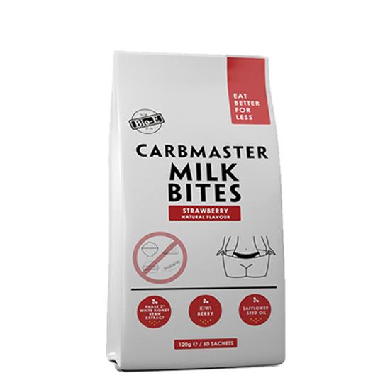 Bio-E Carbmaster Milk Bites Strawberry Natural Flavour 120g/60 sachets