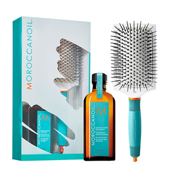 Moroccanoil Great Hair Day Set (Moroccanoil treatment 100ml+Ceramic Paddle Brush)