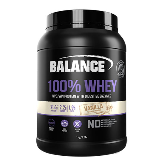 100% Whey Protein with Digestive Enzymes Vanilla 1kg