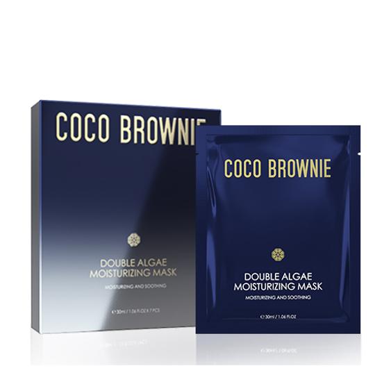 coco brownie double algae moisturizing Mask 7 pcs