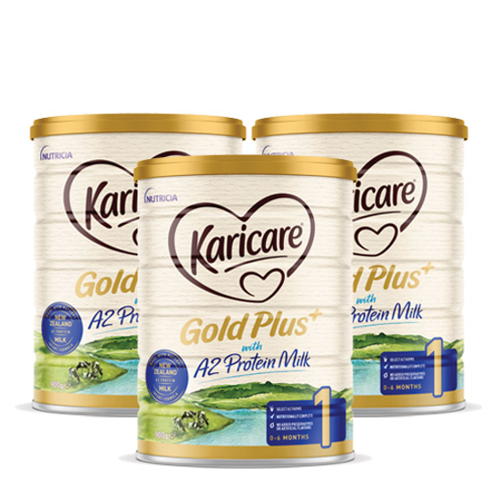 [Flyway] Karicare Gold Plus+ with A2 Protein Milk stage1 (0-6 months) 900g x 3