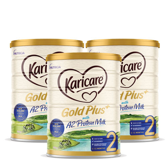 [Flyway] Karicare Gold Plus+ with A2 Protein Milk stage 2 (6-12 months) 900g x 3