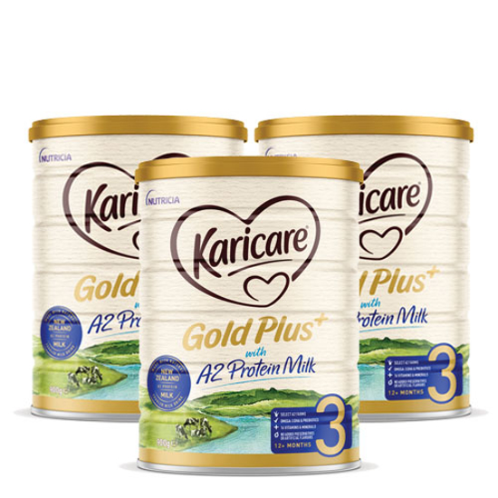 [Flyway] Karicare Gold Plus+ with A2 Protein Milk  stage 3 (12-24 months) 900g x 3
