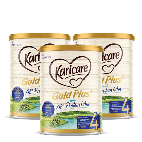 [Flyway] Karicare Gold Plus+ with A2 Protein Milk stage 4  (2+ years) 900g x 3