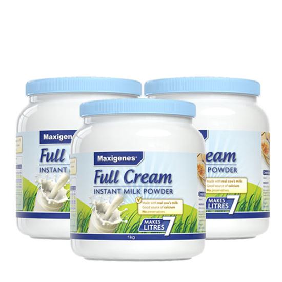 [Flyway] Maxigenes Full Cream Milk Powder 1kg x 3 cans