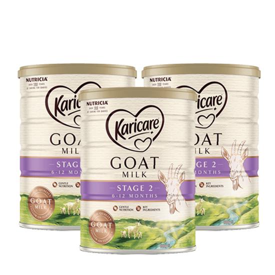 [FTD] Karicare Goat milk Stage 2 (6-12 months) 900g x 3