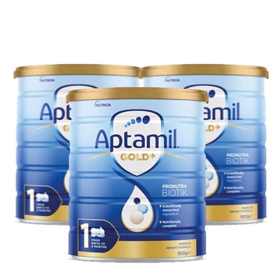 Aptamil Gold Stage 1 (0-6 months) 900g x 3