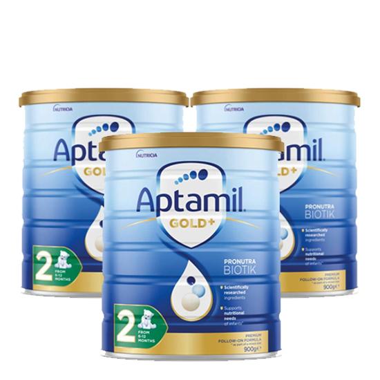 Aptamil Gold Stage 2 (6-12 months) 900g x 3